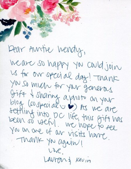 Wedding Thank You Etiquette.Thank You Note